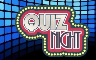 Quizshow Quiznight auf blauem Hintergrund
