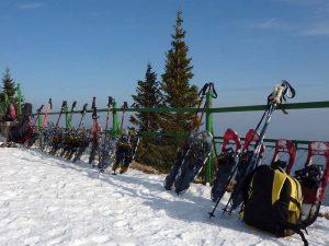 Schneeschuhwanderung als Weihnachtsfeier